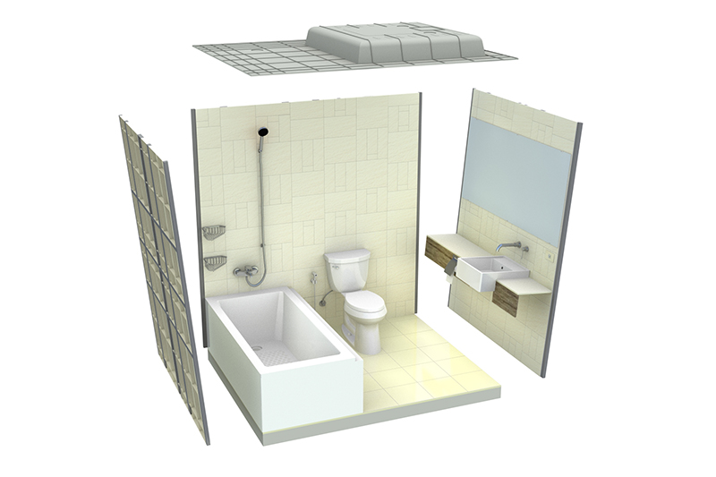 Prefabricated Bathroom | Bathroom Pods | Modular Bathroom | Factory Built  Bathroom
